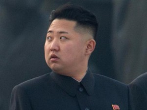 Watching his back: Kim Jong -un.